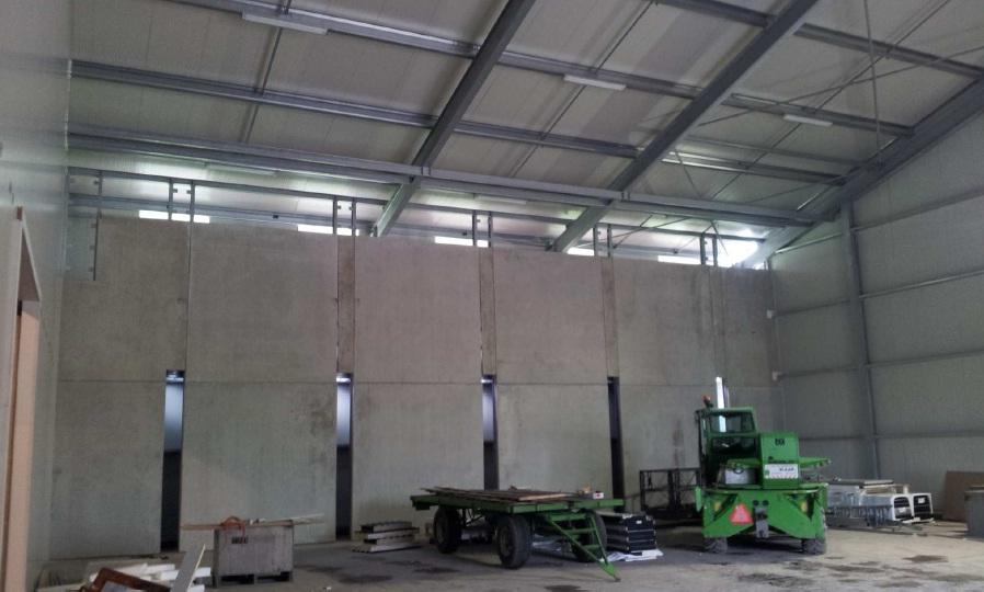 Betonpanelen Realiseren nieuwbouw aardappelbewaarplaats Mts Sturm te Wieringerwerf