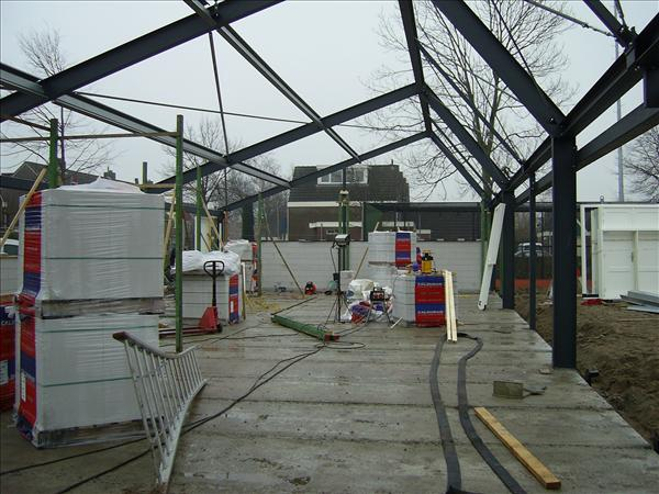 staalconstructie nieuwbouw clubgebouw TC te Ursem