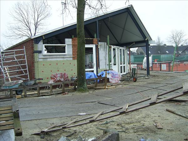 Aanzicht nieuwbouw clubgebouw TC te Ursem