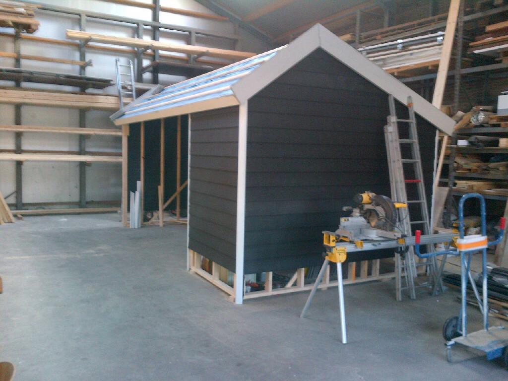 Realiseren nieuwbouw veranda met berging te Heerhugowaard.