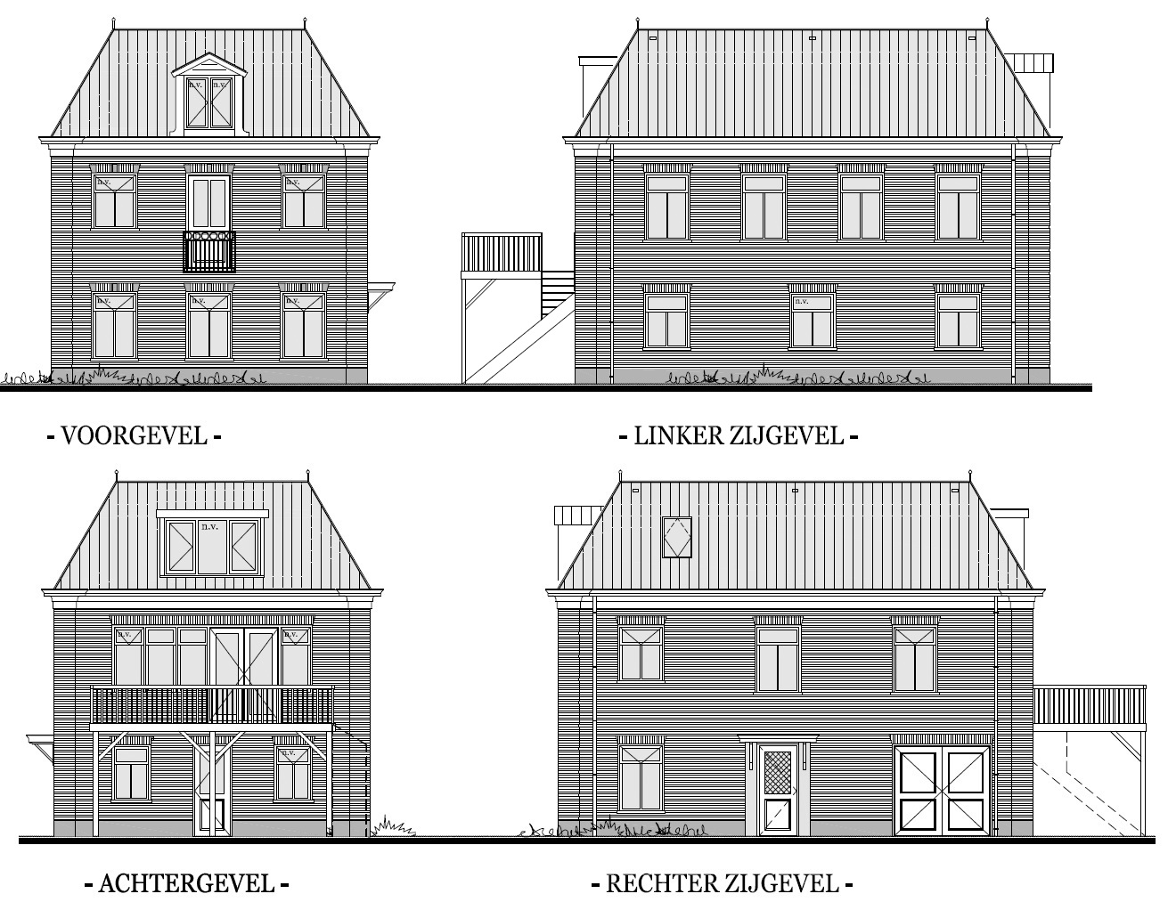Aanzichten nieuwbouw woning Rustenburgerdijk te Ursem