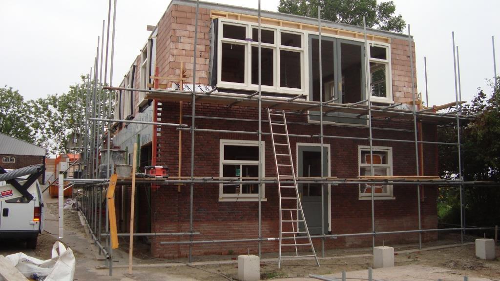 Gevel en binnenmetselwerk nieuwbouw woning Rustenburgerdijk 18 te Ursem 2