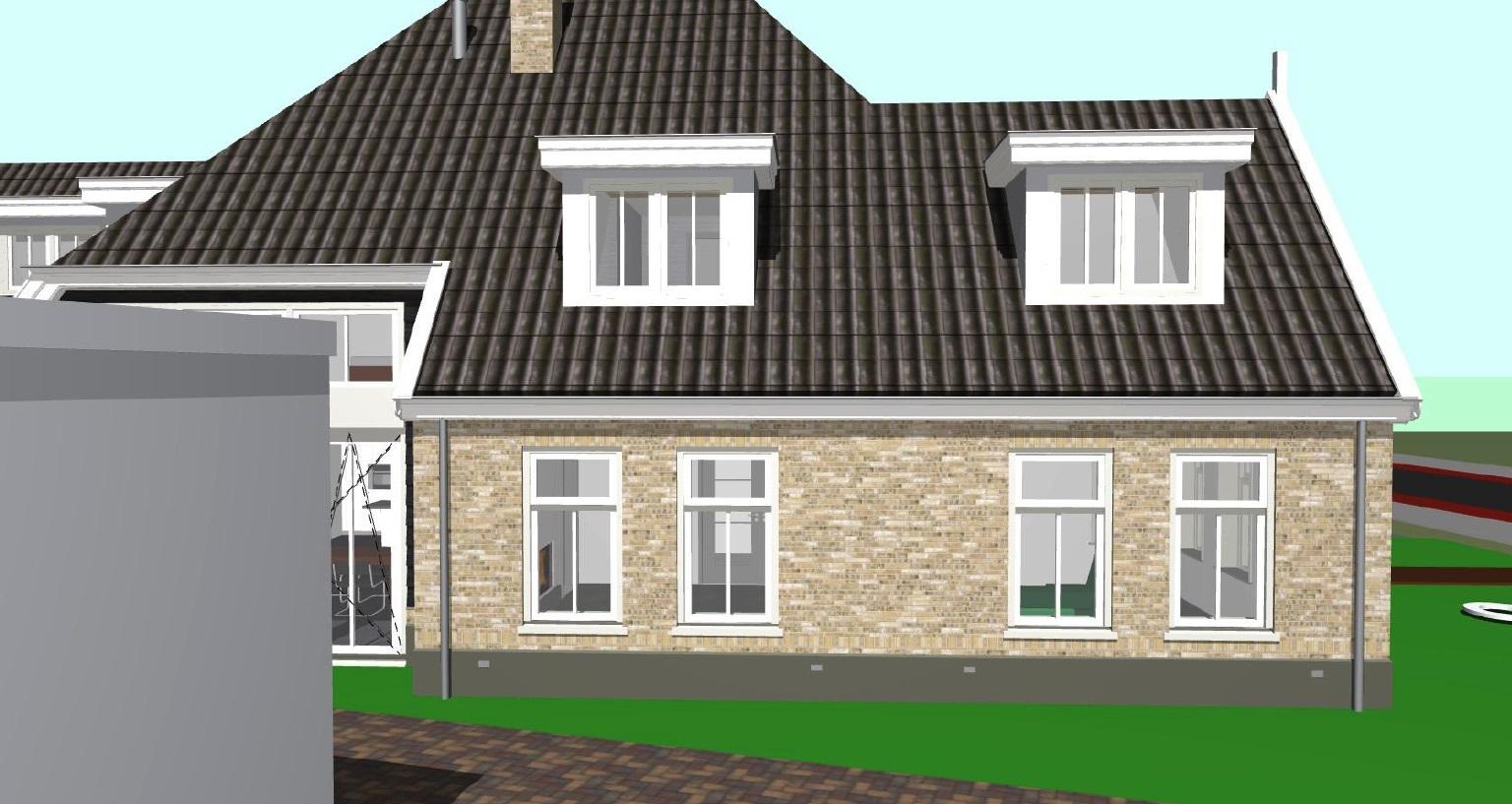 Linkergevel nieuwbouw/boerderij woonhuis te Schagen