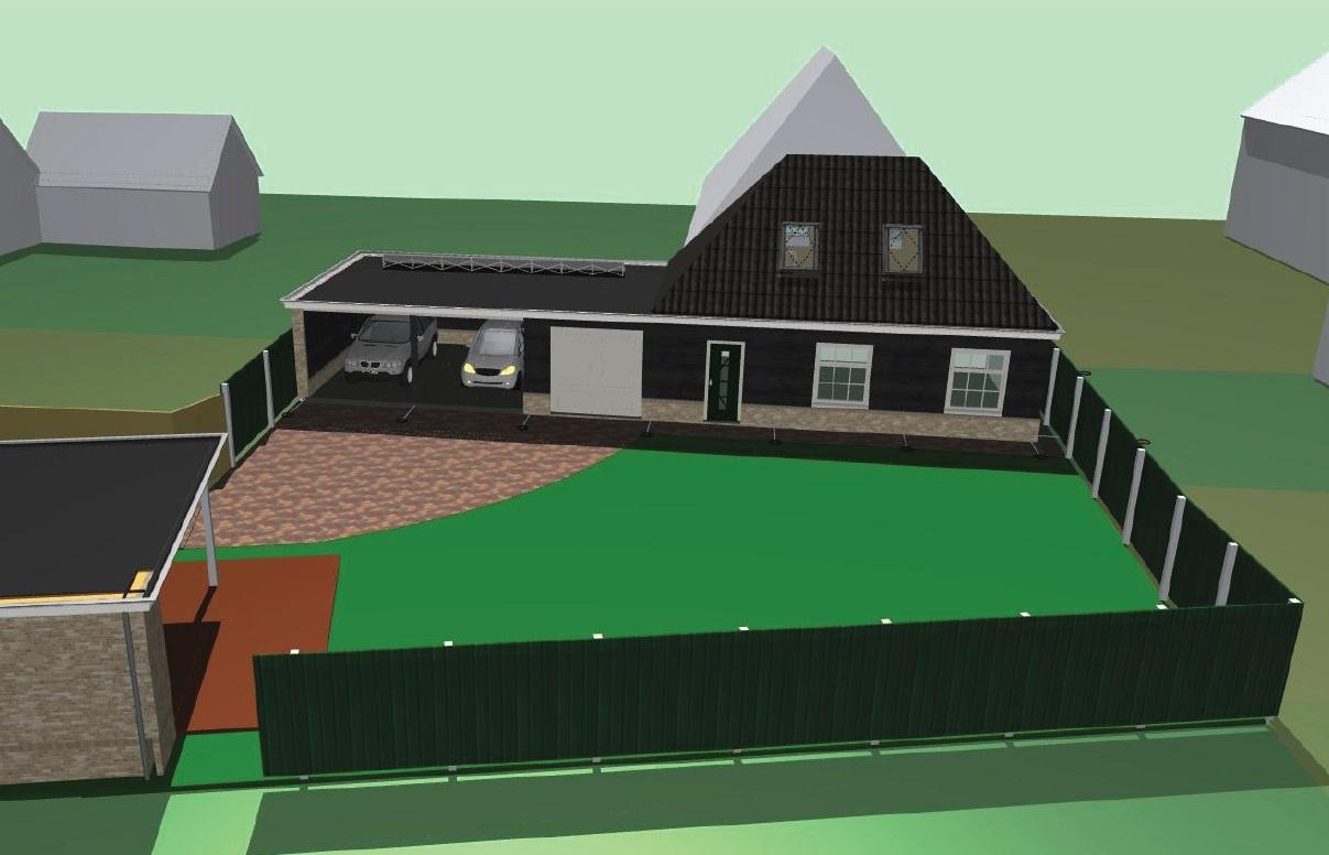 Nieuwbouw garage/schuur met carport te Schagen