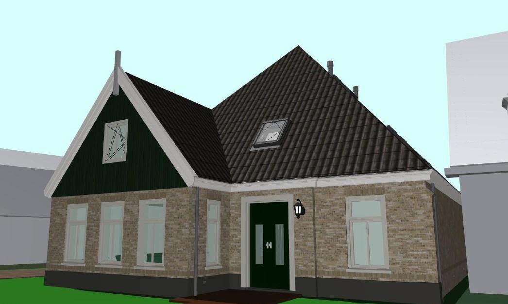 Voorgevel 2nieuwbouw/boerderij woonhuis te Schagen