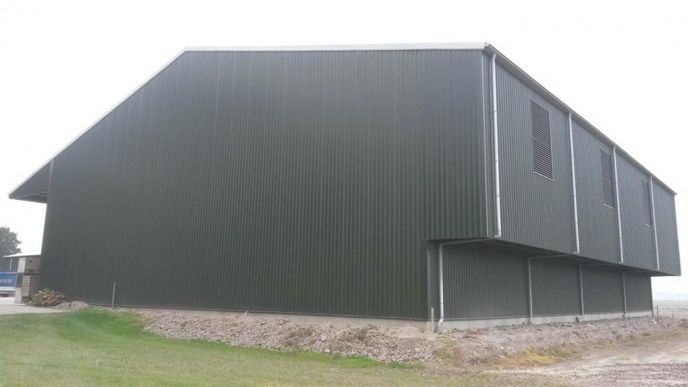 6Nieuwbouw aardappelschuur afm.ca.31x29m met overkapping te Wieringerwerf