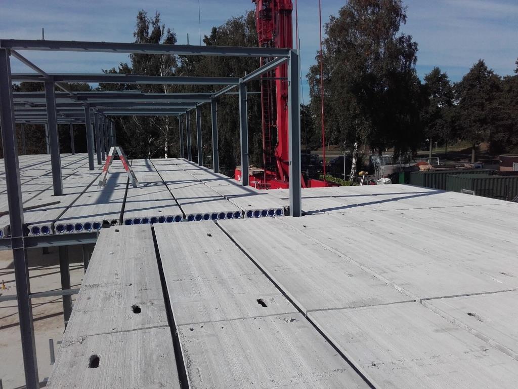 15Nieuwbouw clubgebouw, kanaalplaat verdiepingsvloeren, staalconstructie FC Amsterdam