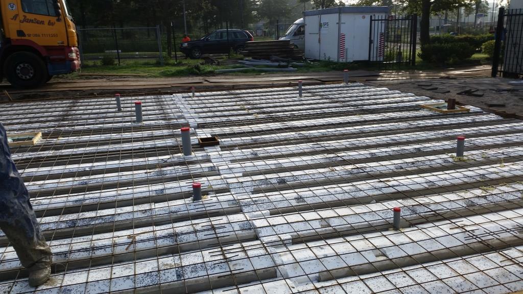 4Nieuwbouw clubgebouw, bgg balk- en broodjesvloer, PS-isolatievloer FC Amsterdam