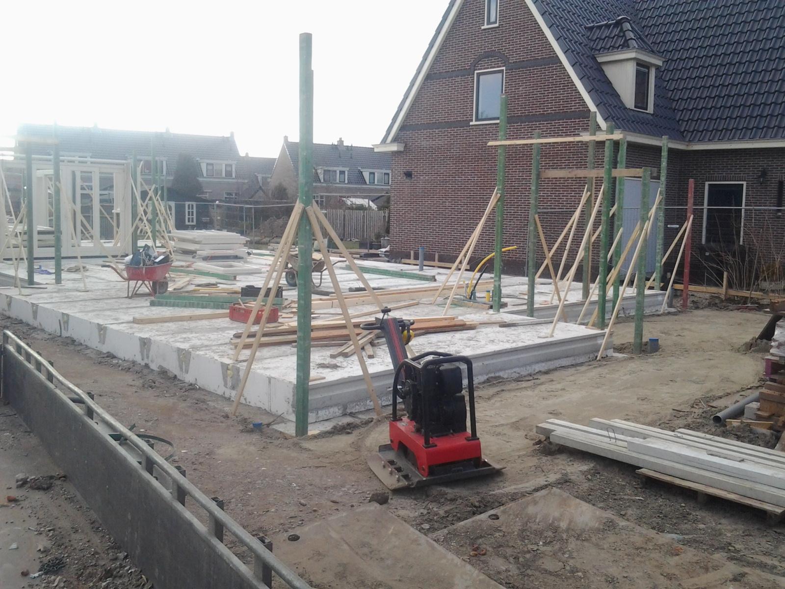 opbouw metselwerk binnenwanden, Noord Schagen nieuwbouw woning-boerderij