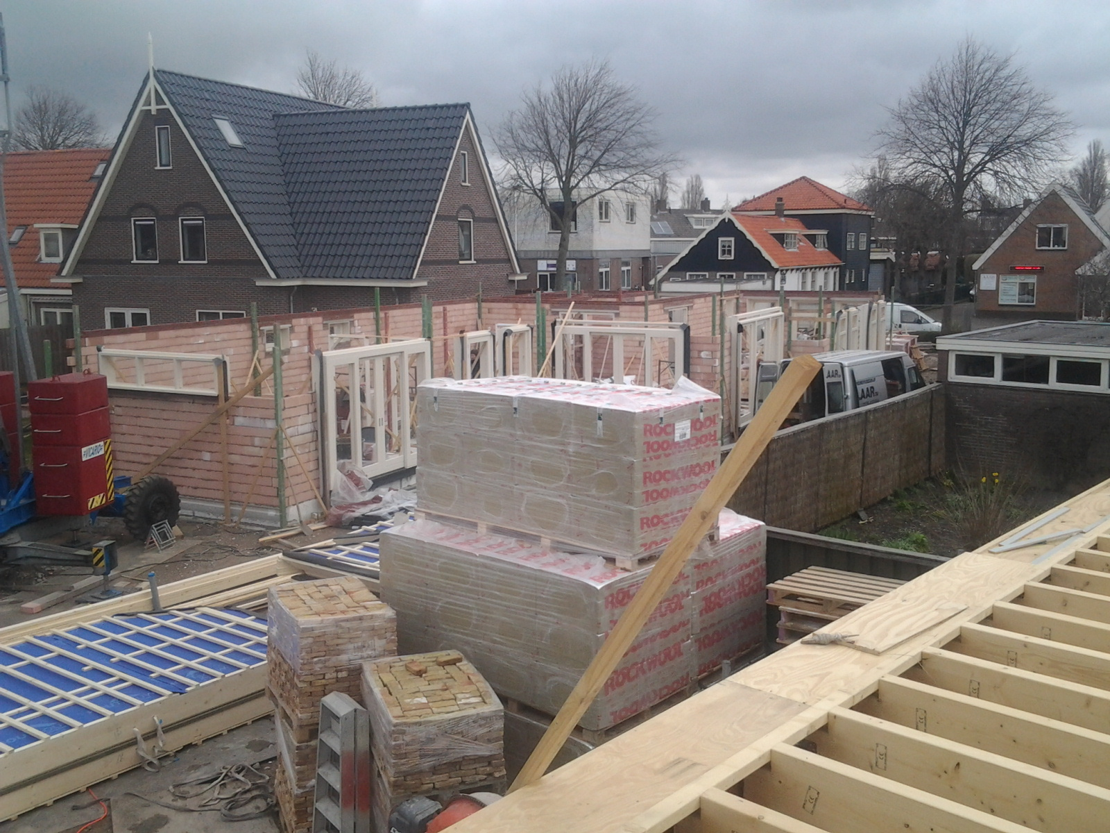 opbouw metselwerk binnenwanden, Noord Schagen nieuwbouw woning-boerderij10