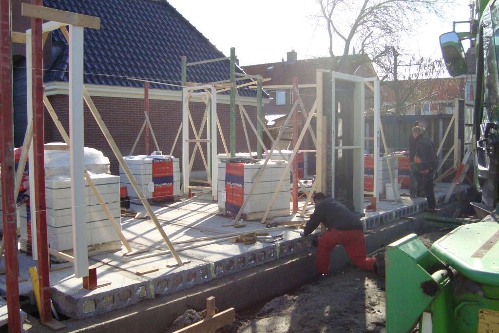 vloeren,binnenwanden garage-schuur Noord Schagen nieuwbouw woning-boerderij2