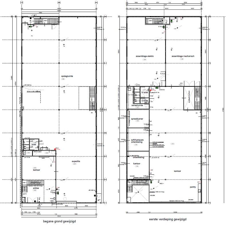 Nieuwe situatie Bouwkundige plattegronden-DeVi Comfort-Vlaar Hensbroek-Verbouw bedrijfsgebouw Obdam